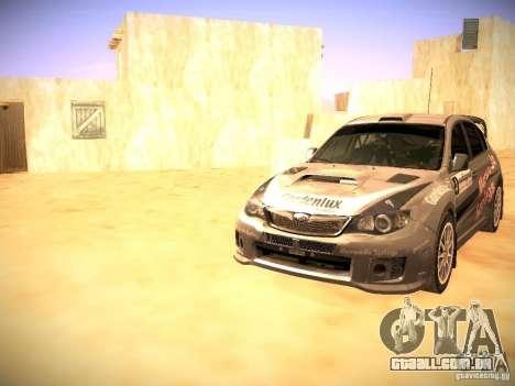 Subaru impreza Tarmac Rally para GTA San Andreas interior