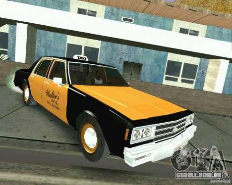Chevrolet Impala 1986 Taxi Cab para GTA San Andreas
