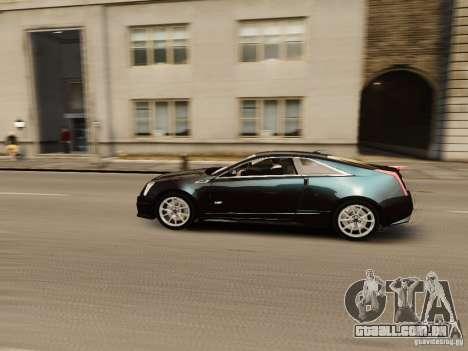Cadillac CTS-V Coupe 2011 para GTA 4 vista interior