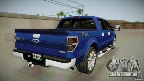 Ford Lobo Lariat Ecoboost 2013 para GTA San Andreas traseira esquerda vista