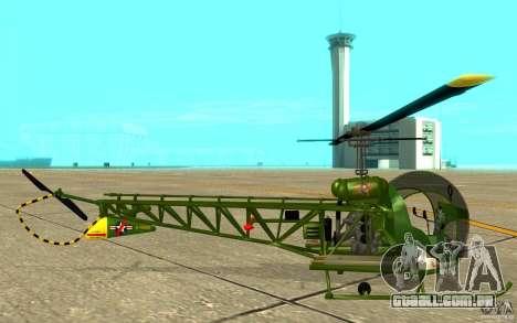Bell H13 para GTA San Andreas traseira esquerda vista