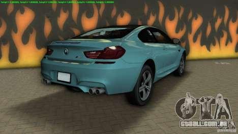 BMW M6 2013 para GTA Vice City vista traseira esquerda