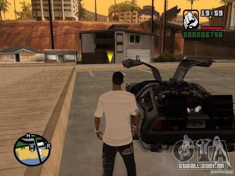 Crysis Delorean BTTF1 para GTA San Andreas traseira esquerda vista