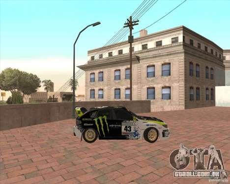 Subaru Impreza Ken Block para GTA San Andreas esquerda vista