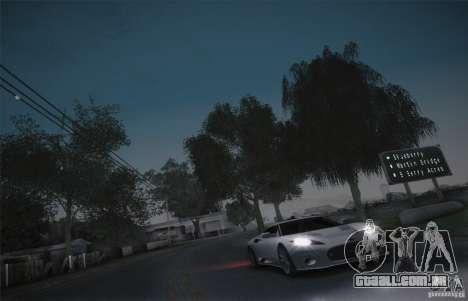 Spyker C8 Aileron para GTA San Andreas vista interior