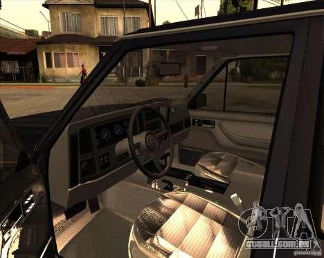 Jeep Cherokee para GTA San Andreas vista traseira