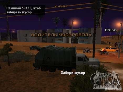 O motorista do caminhão para GTA San Andreas
