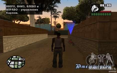Localização da equipe de SanLtd para GTA San Andreas por diante tela