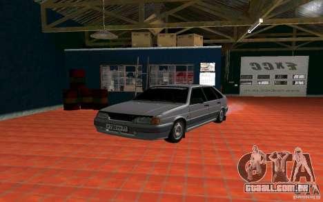 Ваз 2114 russo para GTA San Andreas esquerda vista
