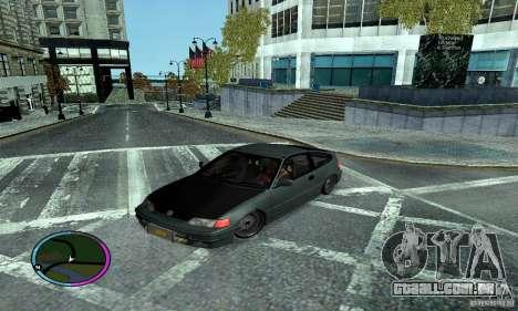 Honda CRX Tuned para GTA San Andreas vista traseira