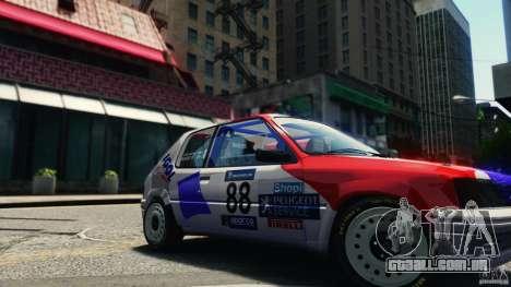 Peugeot 205 Rally para GTA 4 vista direita