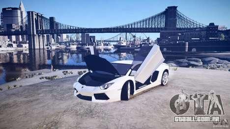 Lamborghini Aventador LP700-4 v1.0 para GTA 4 vista de volta