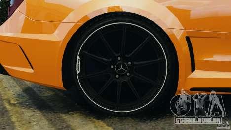 Mercedes-Benz C63 AMG 2012 para GTA 4 vista superior