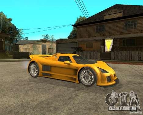 Gumpert Appolo para GTA San Andreas vista direita