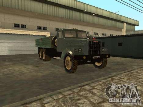 Mesa de caminhão KrAZ v. 2 para GTA San Andreas vista traseira