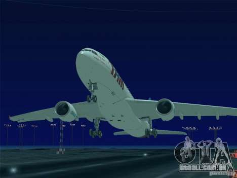 Airbus A330-223 TAM Airlines para GTA San Andreas vista inferior