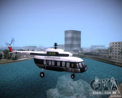 MI-8 para GTA Vice City vista direita