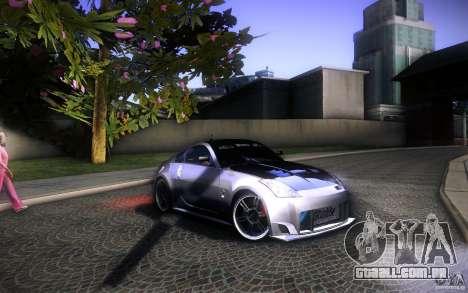 Nissan 350Z Fairlady para GTA San Andreas vista superior
