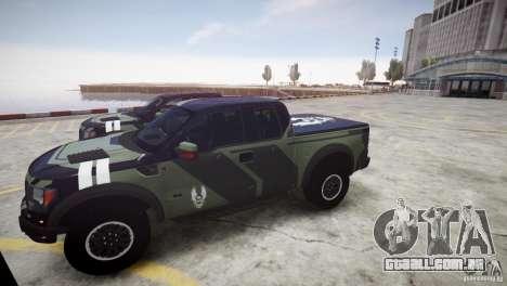 Ford F150 SVT Raptor 2011 UNSC para GTA 4 vista de volta