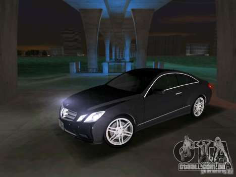 Mercedes-Benz E Class Coupe C207 para GTA Vice City vista traseira