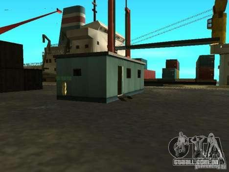 Renovação da base militar nas docas para GTA San Andreas décimo tela