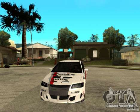 Lancer Evolution VIII, os americanos interveio para GTA San Andreas