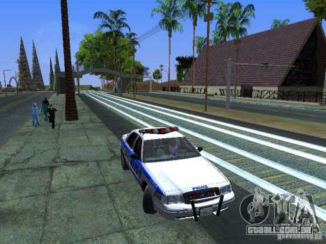 Ford Crown Victoria 2009 New York Police para vista lateral GTA San Andreas