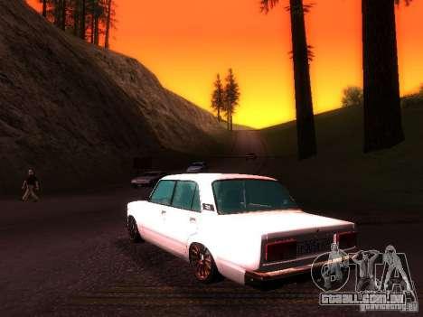 VAZ 2107 Lambo para GTA San Andreas traseira esquerda vista