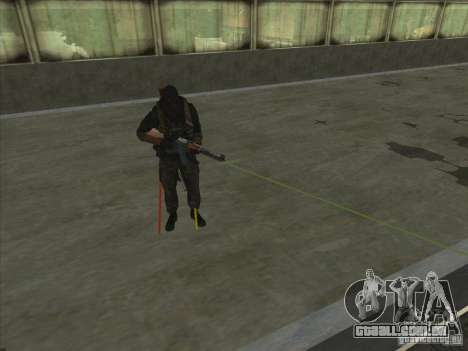 Weapon with laser para GTA San Andreas por diante tela