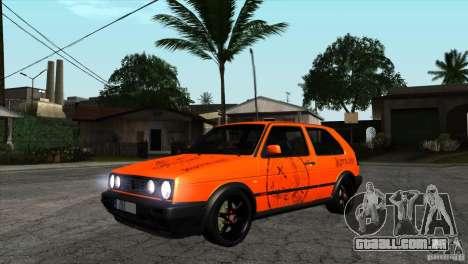 VW Golf 2 para GTA San Andreas vista interior