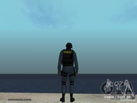 MOTIM policial para GTA San Andreas por diante tela