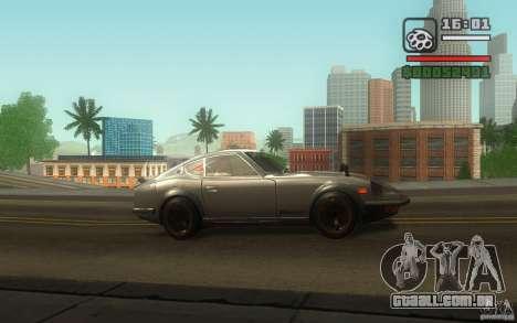 Datsun 240ZG para vista lateral GTA San Andreas