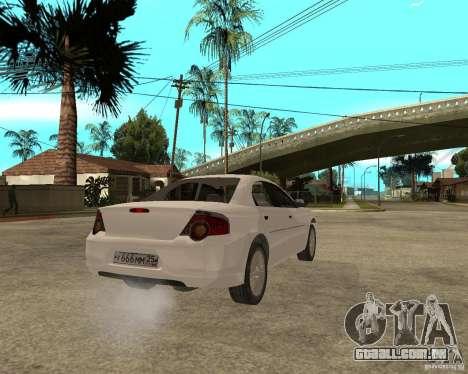 GAZ Volga Siber AT 2,5 para GTA San Andreas traseira esquerda vista