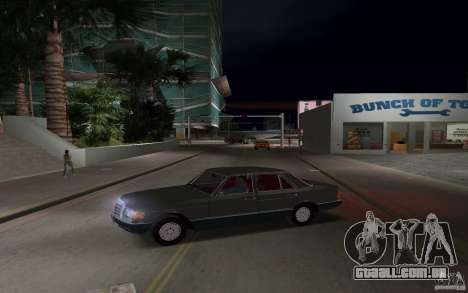 Mercedes-Benz W126 500SE para GTA Vice City deixou vista