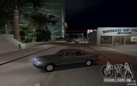 Mercedes-Benz W126 500SE para GTA Vice City deixou vista