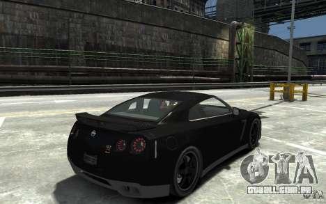Nissan GT-R R35 Final para GTA 4 vista direita