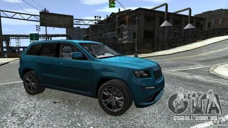 Jeep Grand Cherokee STR8 2012 para GTA 4 vista superior