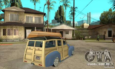 Ford Woody Custom 1946 para GTA San Andreas vista direita