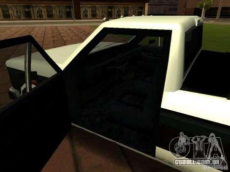 New Tuned Bobcat para GTA San Andreas vista interior