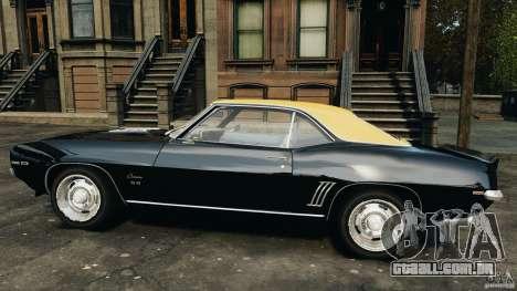 Chevrolet Camaro SS 350 1969 para GTA 4 esquerda vista