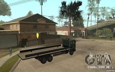 DFT30 Dumper Truck para GTA San Andreas vista direita
