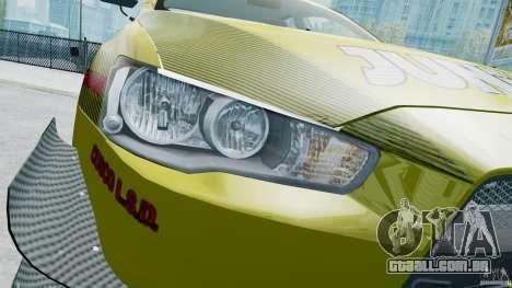 Mitsubishi Lancer X JUN para GTA 4 vista interior