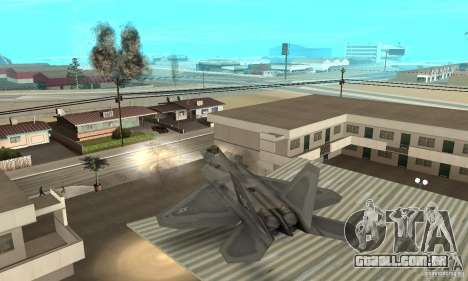 F-22 Grey para GTA San Andreas vista superior