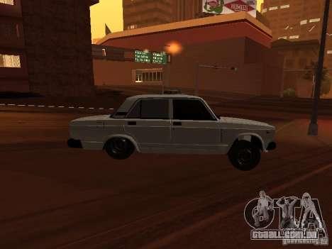 VAZ-2107 full Azeri para GTA San Andreas vista direita
