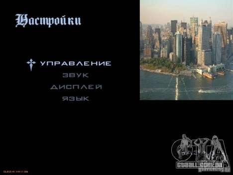 Novo menu no estilo de Nova Iorque para GTA San Andreas segunda tela