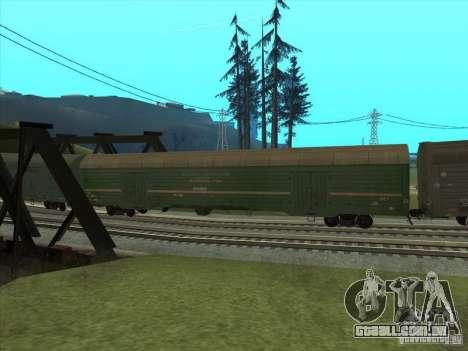 Vagão # 59004960 para GTA San Andreas vista traseira