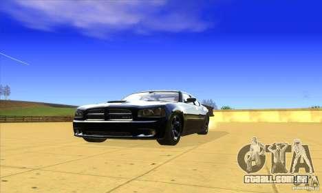 Dodge Charger From Fast Five para GTA San Andreas esquerda vista