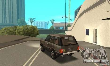 Range Rover County Classic 1990 para GTA San Andreas interior