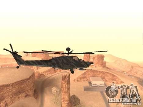 MI 28 Havok para GTA San Andreas traseira esquerda vista
