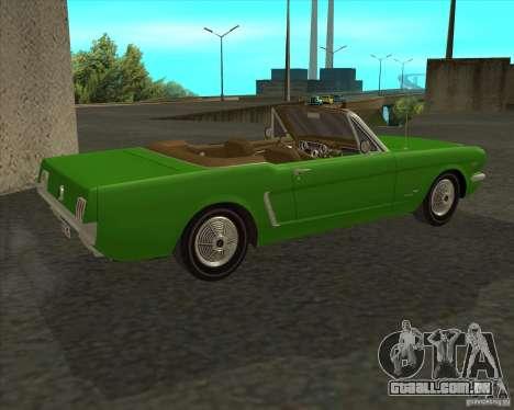 Ford Mustang 289 1964 para GTA San Andreas esquerda vista